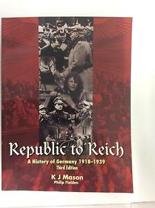 Republic to Reich: A History of Germany 1918 - 1939 Moora Moora Area Preview
