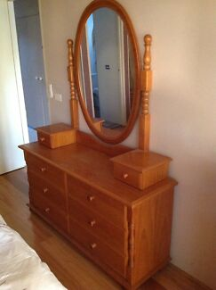 Dressing Table, Bookcase, Draws