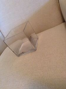 Small cube glass vase