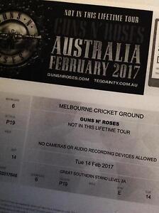 Guns and Roses tickets - 14 Feb 2017 - Melbourne Concert Bendigo Bendigo City Preview
