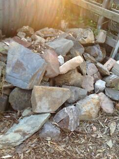 Free garden rocks for retaining or clean fill