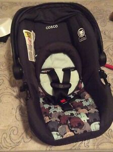 cosco infant car seat no base and bear winter suit