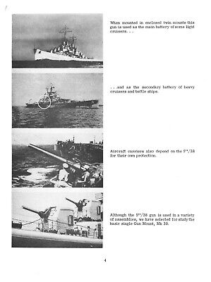 REPRINT 5-INCH/38 GUN NAVPERS 10111 500p 1965 MARK 30 MOUNT BATTLESHIP WWII NAVY