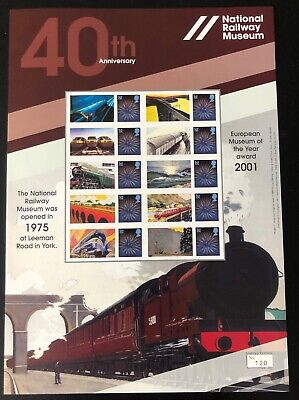 2015 limited edn of 350 National Railway Museum 40th anniversary Smilers sheet