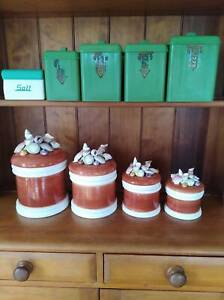 2 Retro Kitchen Canister Sets