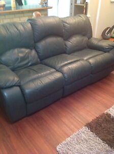 Leather lounge with 4 recliners Mandurah Mandurah Area Preview