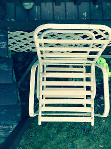 4 sturdy lawn chairs! Very strong! Great for a  camp! White