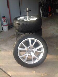 "Tires on OEM Audi Alloy Rims 18"" Winters"