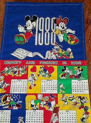 1988 Calendar Walt Disney Co Mickey and Friends Calendar Peter Pan Fabrics