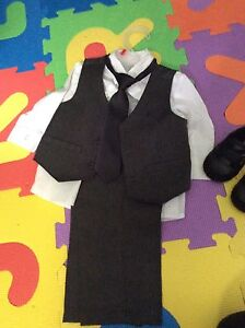 Boys 6-12 month suit and shoes