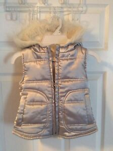 Silver with whit fur Vest