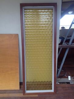 Amber 'bottle bottom' glass panel with timber wood frame Gooseberry Hill Kalamunda Area Preview
