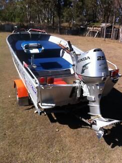 Sea Jay 3.95 Nomad Full casting decks 25Hp honda 4 stroke+ extras Nanango South Burnett Area Preview