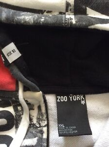 Zoo York Full Zip Hoodie Size XXL In Excellent Condition!