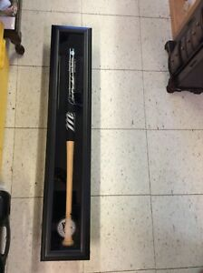 Jose Bautista signed bag in display bat case