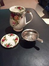 Royal Albert mug in Old Country Roses pattern with coaster Castle Hill The Hills District Preview