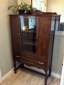 Antique China hutch cabinet