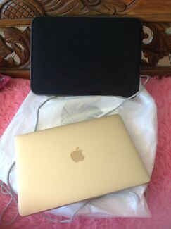 Like new 12inch gold Mac book laptop