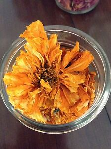 Dried flowers and petals marigolds/ roses
