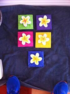5 X Plaster Frangipani Wall Plaques Seaforth Manly Area Preview