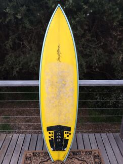 "MICK PIERCE HANDSHAPED SURFBOARD~6'6"" THRUSTER~+COVER AND LEGROPE Rye Mornington Peninsula Preview"