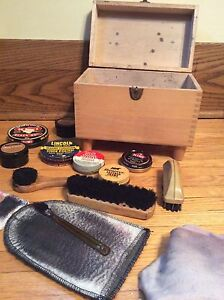 Vintage Shoe Shine Kit