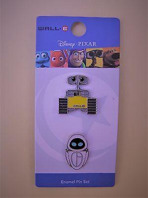 Disney Pixar Wall-E & Eve 2 Pin Set - Loungefly - Mint on Card