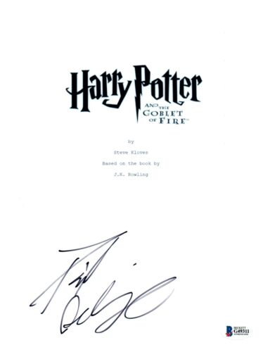 Daniel Radcliffe Signed HARRY POTTER AND THE GOBLET OF FIRE Script BAS COA