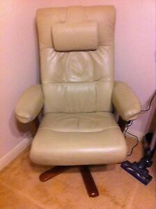 Armchair white leather Mosman Mosman Area Preview
