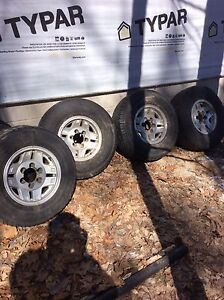 """Toyota truck alum rims, 31"""" tires"""