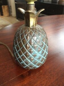 NEW PRICE Antique pineapple lamp, 9 in tall