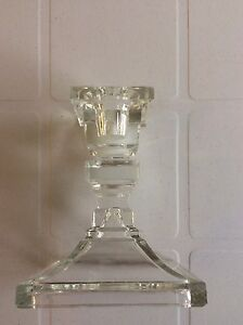 Candle Stick Holders - Vintage Glass