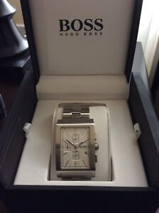 Hugo Boss chronograph stainless steel watch - montre