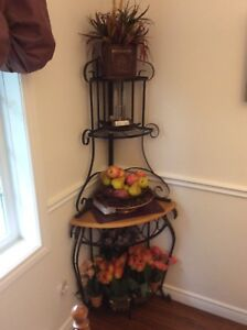 Four tiered corner shelves for $65