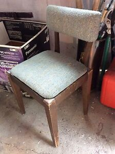 Antique upholstered sewing  chair