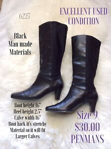 Size 9 heeled boots
