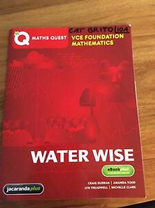 Maths Quest VCE Foundation Mathematics WATER WISE Jacana Hume Area Preview