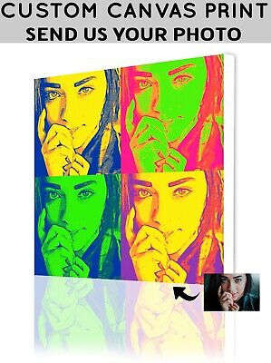 Personalize Wall Art- Custom Picture to Canvas Print Wall Art - Pop Art Portrait Custom Pop Art Canvas