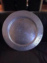 """Reduced"" Large round carved silver tray Golden Grove Tea Tree Gully Area Preview"