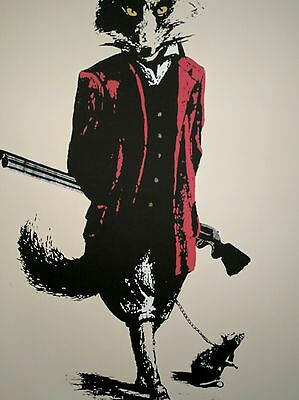 t.wat, Legalise Hunting Signed stamped limited edition Screen Print 12/15.