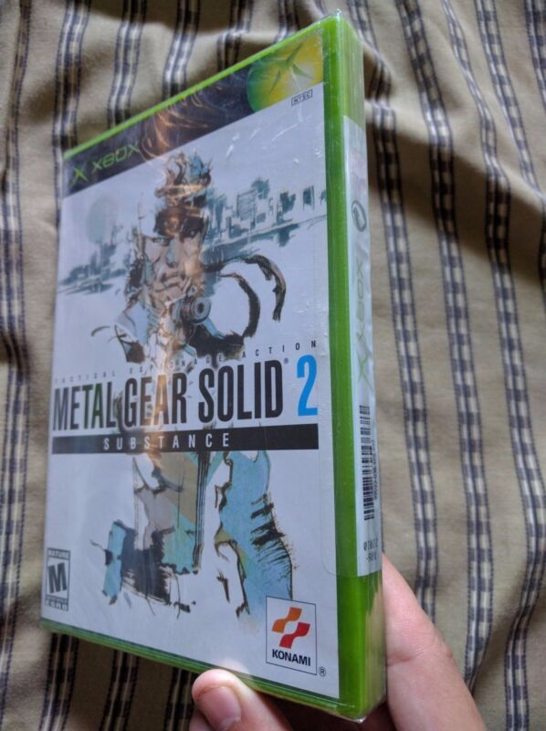 Metal Gear Solid 2: Substance (Microsoft Xbox, 2002) Brand New Factory Sealed!