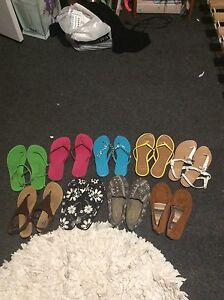 Flip flops and shoes