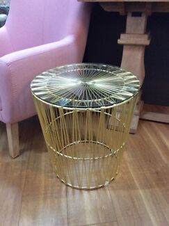 Gold Wire Side Table (Brand New) Exeter Port Adelaide Area Preview