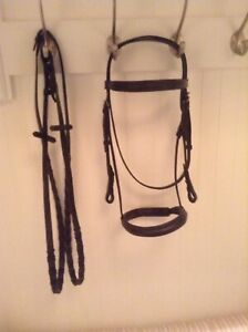 Black Cob Bridle with reins