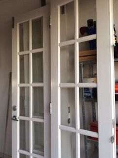 X2 Timber French doors, internal or external use