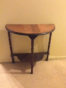 Real Wood, half circle side table