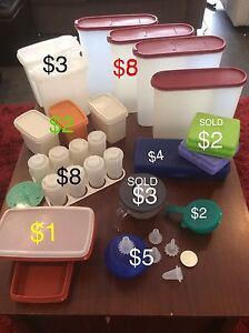 Tupperware - various pieces Elermore Vale Newcastle Area Preview