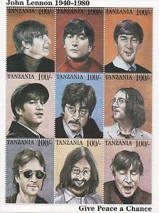 THE-BEATLES-JOHN-LENNON-GIVE-PEACE-A-CHANCE-TANZANIA-STAMP-SHEET-MINT