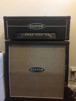 Kustom Quad 100hd Head and Speaker Cabinet Guitar Amplifier Hebersham Blacktown Area Preview