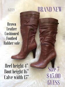 Size 7 Guess boots brown leather